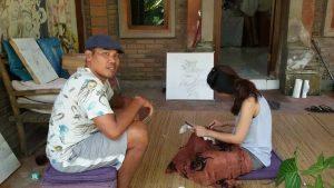 belajar batik sutra di ubud bali