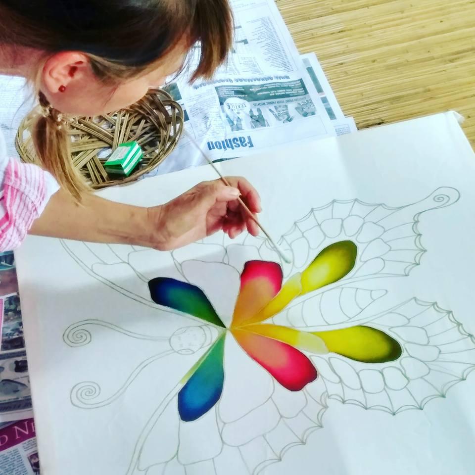 belajar batik sutra di ubud bali2